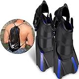 Khroom verstellbare Schnorchelflossen kurz | Mit Tasche zum umhängen [NEUZUGANG] Gr.34-47 Kurzflossen zum Schwimmen für Erwachsene Damen & Herren | Taucherflossen (42-47)