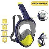 WOTEK Tauchmaske Vollgesichtsmaske Schnorchelmaske Vollmaske Tauchermaske für Kinder und Erwachsene-Snorkel Mask Full face mit 180 Grad Blickfeld, Anti-Fog Anti-Leck, Kompatibel mit GoPro MEHRWEG