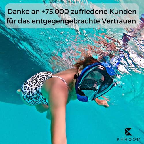 Khroom® von DEKRA® geprüfte CO2 sichere Schnorchelmaske Vollmaske   bekannt aus YouTube   Seaview X - Tauchmaske für Erwachsene und Kinder (Blau, L/XL)